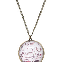 Fairy Tale Quote Necklace