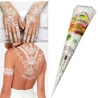 Free Shipping 1 PC 18g High Quality Mini Natural Indian Tattoo Henna Paste for Body Drawing Black Henna For Gift