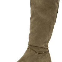 Madden Girl Persiss Taupe Suede Knee-High Boots