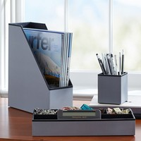 Preppy Paper Desk Acc - Solid Gray