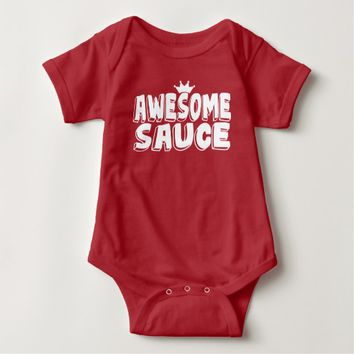 Awesome Sauce Red Baby Bodysuit