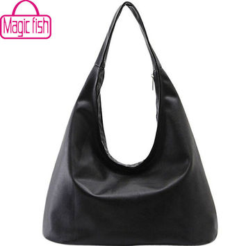 Magic Fish women tote brands women handbag Hobos purse women's pouch Bolsa Feminina shoulder bag female bag LS8508mf