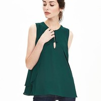 Banana Republic Layered Crepe Keyhole Tank