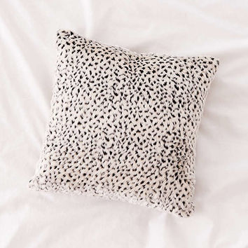 Snow Leopard Print Faux Fur Pillow | Urban Outfitters