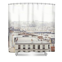 Paris Montmartre Rooftop Shower Curtain for Sale by Ivy Ho