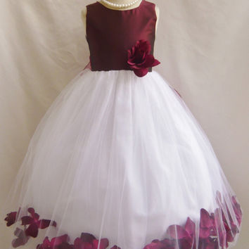 Color Top Rose Petal Dress (Flower Girl Dress)