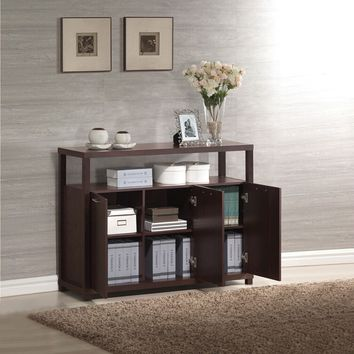 Acme 08278 Hill espresso finish wood hall console entry table cabinet