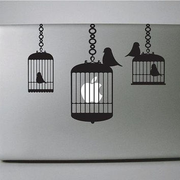 Macbook Decal Birdcage Brigade--- Mac Decal Macbook Decals Macbook Stickers Vinyl decal for Apple Macbook Pro