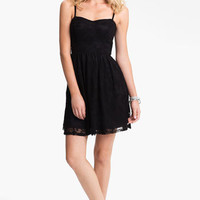 Fire Lace Skater Dress (Juniors) (Online Only) | Nordstrom