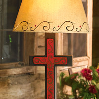 Scrolled Cross Table Lamp