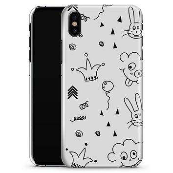 Joker, Clouds, and Balloon Doodle - iPhone X Clipit Case