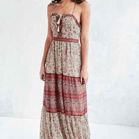 Ecote Face The Music Lace-Up Maxi Dress