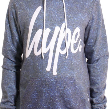 Hype Blueline Crest Sublimated Speckled Popover Hoodie