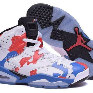 PEAPVX Jacklish Air Jordan Retro 6 American Heroes Custom For Sale