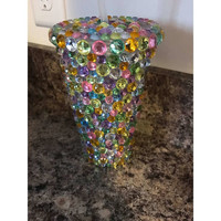 Rhinestone Tumbler Cup, Spring Themed