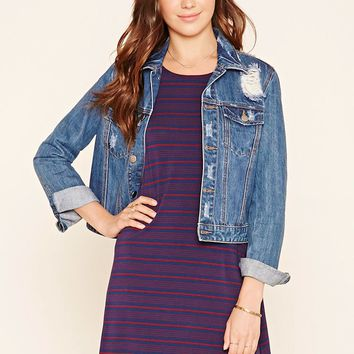 Stripe Knit Tank Dress