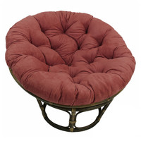 Wine Suede Papasan Chair Cushion (base and bowl sold separately)