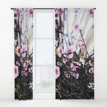 Αlmond tree Window Curtains by Azima