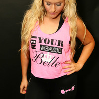"FFAB ""Not Your #Basic Belle"" Crop Tank"