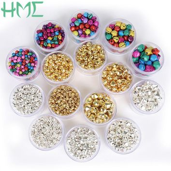 20-300Pcs Pick Size 6mm 8mm 10mm 12mm 14mm Jingle Bells Iron Loose Small Beads For Christmas Decoration Gift DIY Craft