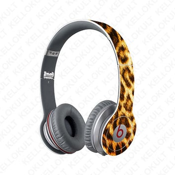 Beats Solo Leopard Animal Full Headphone Wrap