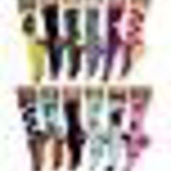 DCCK2JE 12 Pack Women Colorful Patterned Fashion Crew Socks by Frenchic