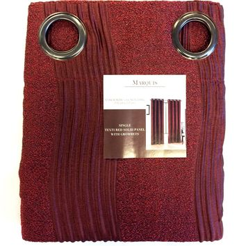 Burgundy Marquis Curtain 52 x 84 Inches with Top 8 Grommets