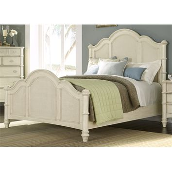 Liberty Sunset Key II Twin Poster Bed In Sea Oat
