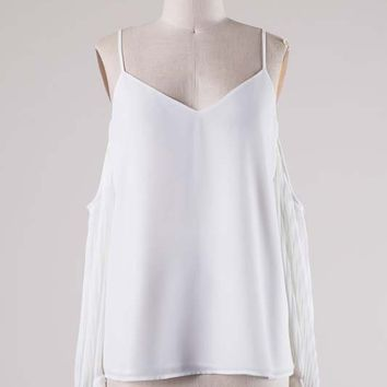 HERMOSA OPEN SHOULDER BLOUSE - WHITE