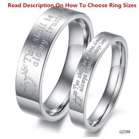 1PCS Fashion Jewelry Mens OR Womens Silver 316L Stainless Steel Lover's Rings Promise Couples Wedding Bands With Love Word From Milkle Gift = 1930088964