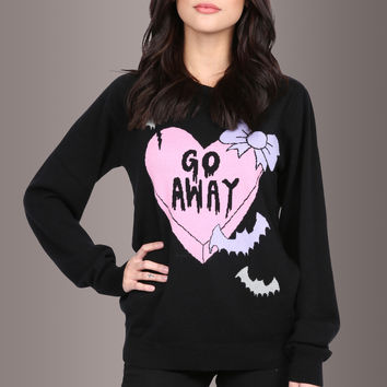 Too Fast Clothing CREEPY LOVE Sweater