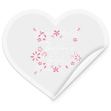 14 daddys girl TEST STHE Heart Sticker
