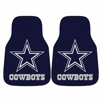 Dallas Cowboys 2-Piece Carpet Car Auto Floor Mats