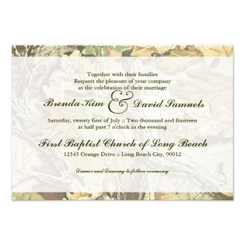 Camo Wedding Invitation