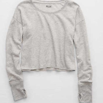 Aerie Fleece Crew Sweatshirt , Medium Heather