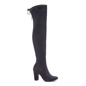 JERRY OVER THE KNEE LUG SOLE BOOT