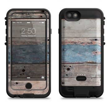 The Multicolored Tinted Wooden Planks  iPhone 6/6s Plus LifeProof Fre POWER Case Skin Kit