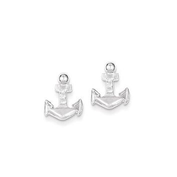Sterling Silver Anchor Mini Stud Earrings