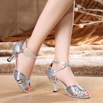 DCK7YE Latin dance shoes female adult women's square dance shoes ballroom dancing shoes new h