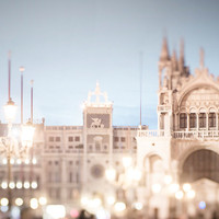 Venice Photography -  My Heart Belongs to Venice, Piazza San Marco at Night, Italy Travel Fine Art Photograph, Home Decor, Large Wall Art