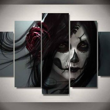 *Day of the Dead Face Wall Art Picture