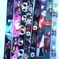 Hot Sale! Mixed 10 pcs Cartoon Nightmare Before Christmas Lanyard Key Chains Pendant    Gifts Party Favors S77