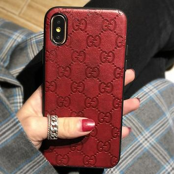 GUCCI tide brand anti-fall men and women models iPhonexsmax phone case
