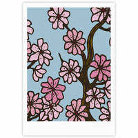 "Art Love Passion ""Cherry Blossom Day"" Floral Illustration Fine Art Gallery Print"