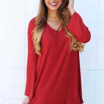 Make Up Your Mind Long Sleeve Dress