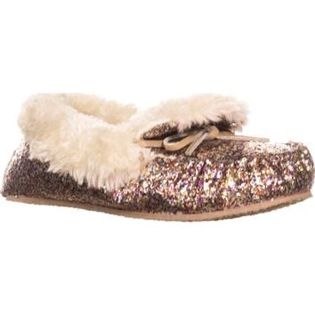 I35 Yeldie Fur Lined Slipper Moccasins, Bright Multi, 6 US