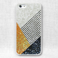 iPhone 5 Case, iPhone 5 Cover, iPhone 4 Cases, iPhone Case  - Printed Glitter Graphic - 156