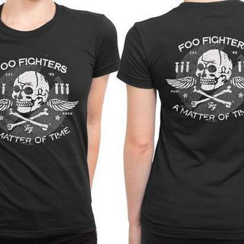 Foo Fighter Official 2 Sided Womens T Shirt