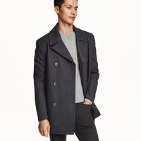 Wool-blend Pea Coat - from H&M