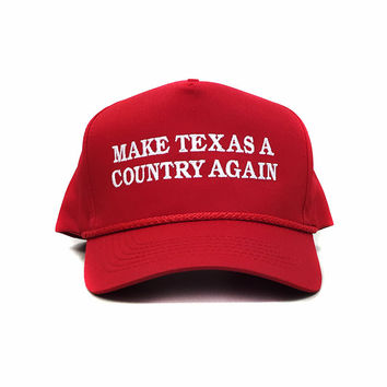 Make Texas A Country Again Classic Rope Hat - Red